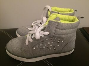 High tops with gems - kids size 2