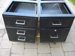 2 x METAL DRAWERS - $25. for the Pair