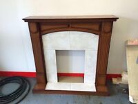 Fireplace surround fire place