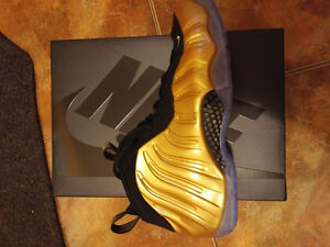 Nike Air Foamposite One Gold jordan adidas Size 10 DS