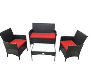 New patio furniture set 4 Piece front porch /condo / balcony​