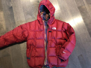 The North face down jacket youth size S 7/8