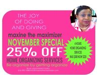 Home Organizng Services  25% off