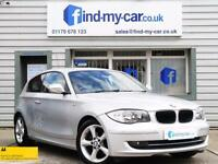 2010 59 BMW 118D 2.0 Sport 3dr in Silver FDSH | START/STOP | £30 ROAD TAX