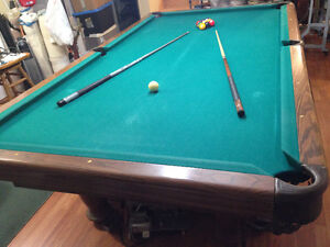 Larger size used Pool Table 5 x 9