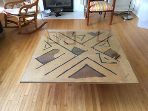 Large maple coffee table