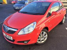 09 Vauxhall Corsa 1.2i 16v ( a/c ) 2009 Design, WARRANTY, SPARE KEY, RED