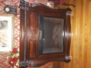 Gorgeous Mahogany Electric Fireplace