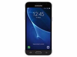 UNLOCKED New Pentaband Samsung Galaxy J3 (2016) Compatible with Freedom Chatr Cityfone Fido Bell Virgin Rogers Zoomer