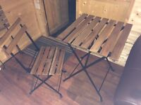 IKEA wood & metal 4 seater bistro table & chairs new!