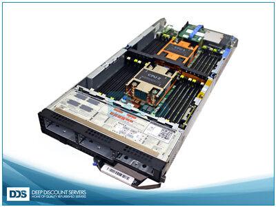 Dell FC630 8 (2)Heat Sinks 0GB Mem PERC H730P RAID (2)10G Virtual Connect (Fc Virtual)