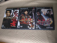 Onimusha 1 , 2  & 3 Complete Trilogy PS2 Playstation 2