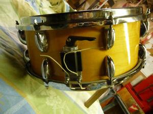 6.5x14 maple snare drum