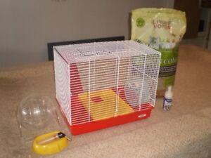 tres belle cage a hamster tout équipé...$35..faite vite..!!!