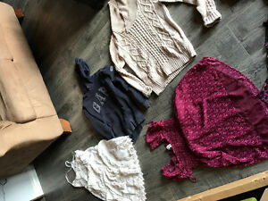 Assorted women's clothing, sizes starting at 2
