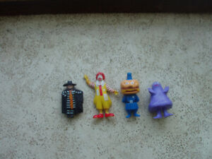 McDonald's PVC Figures Hamburglar, Grimace, Ronald, Big Mac 1985