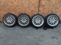 "18"" ford alloy wheels & tyres inovit tunning deep dish rims transit mondo"
