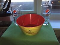 Pepsi Max/UEFA Champion League Bowl & Glasses