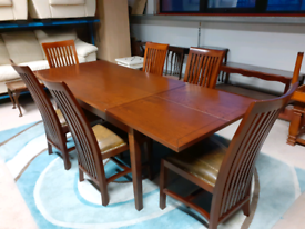 Rustic Style Extendable Dining Table &6 Chairs (🤩excellent condition)