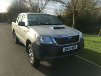 2014 14 TOYOTA HILUX 2.5D-4WD HL2 EURO 5 1 COMPANY OWNER ONLY 17000 MILES