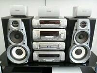 Technics hifi stereo with surround sound dvd video home cinema system