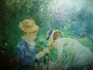 "Berthe Morisot ""Young Woman Sewing in the Garden"" Art Print Stratford Kitchener Area image 3"