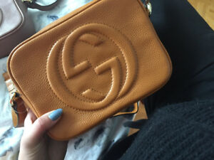 Gucci cross body real leather