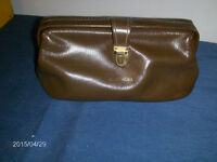 VINTAGE MEN'S PURSE-LEATHER?-R. TURGEL-1950/60S-COLLECTIBLE!