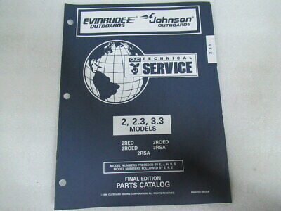 1997 Evinrude Johnson 2/2.3/3.3 Models Final Edition OEM Part Catalog P/N 438185