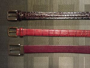 Leather Belts - prices listed individually