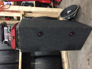 """Dual 12"""" Rockford Fosgate Subs with amps and Deck"""