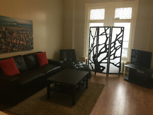 Black leather couch - brand new