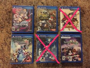 PlayStation Vita games for sale JRPGs Rare Mint Condition