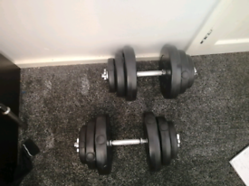 36kg weights and dumbell rods