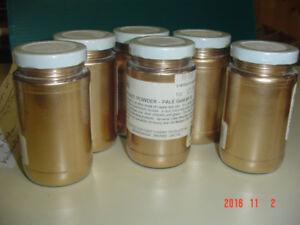 Poudre or,aluminium et cuivre + colorants + rouleau + outils