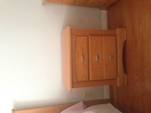 Queen size bed set with dresser and night table Cambridge Kitchener Area image 2