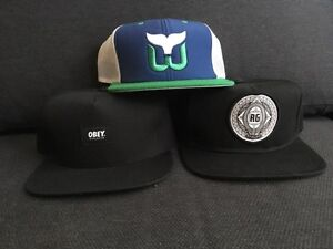 Snapback Hats (Obey, Analog, Whalers) - $10 each