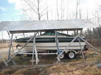 1984  23' century 4000 boat and trailor  trade for skidoo