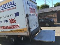 Luton van with Tail Lift And reversing camera