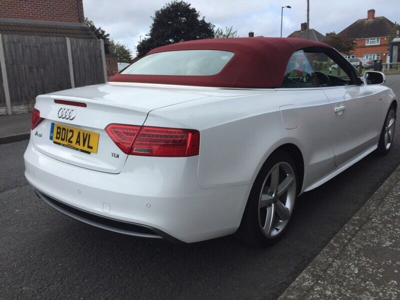 2012 Audi A5 S Line Cabriolet Diesel Facelift White Red Roof Px In Castle Bromwich West