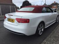 2012 Audi A5 S Line Cabriolet diesel facelift white red roof Px
