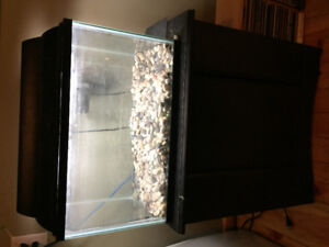 Small fish tank and stand