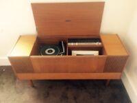 Vintage Ferguson Stereogram 3352 Record Player with inbuilt speakers.