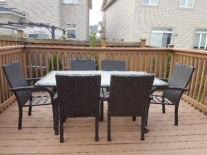 Patio Dinning Table with 6 chairs