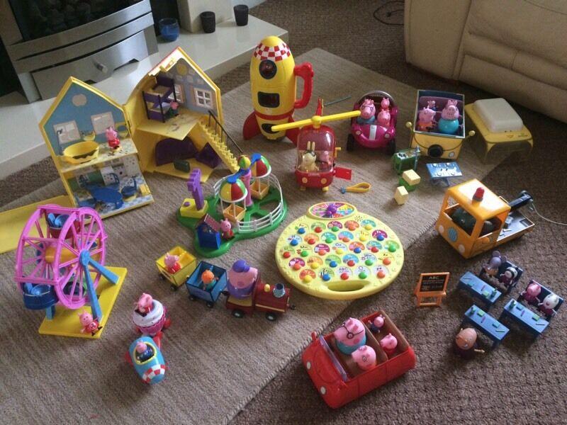 Large bundle of Peppa Pig Toys