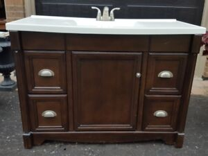 SOLD - Bathroom Vanity with Mirror and Medicine Cabinet