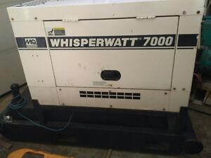 MULTIQUIP WHISPERWATT 7KW DIESEL GENERATOR SET ON SKID