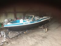 15' Glascon boat with 90 HP Johnson Motor