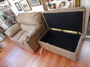 Awesome Oversized Armchair & Storage Ottoman for sale!
