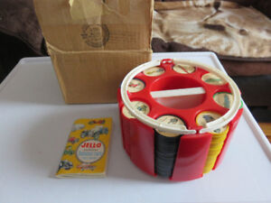 1960's Jell-O Famous Car Fact Book & Coin Set w/ Container